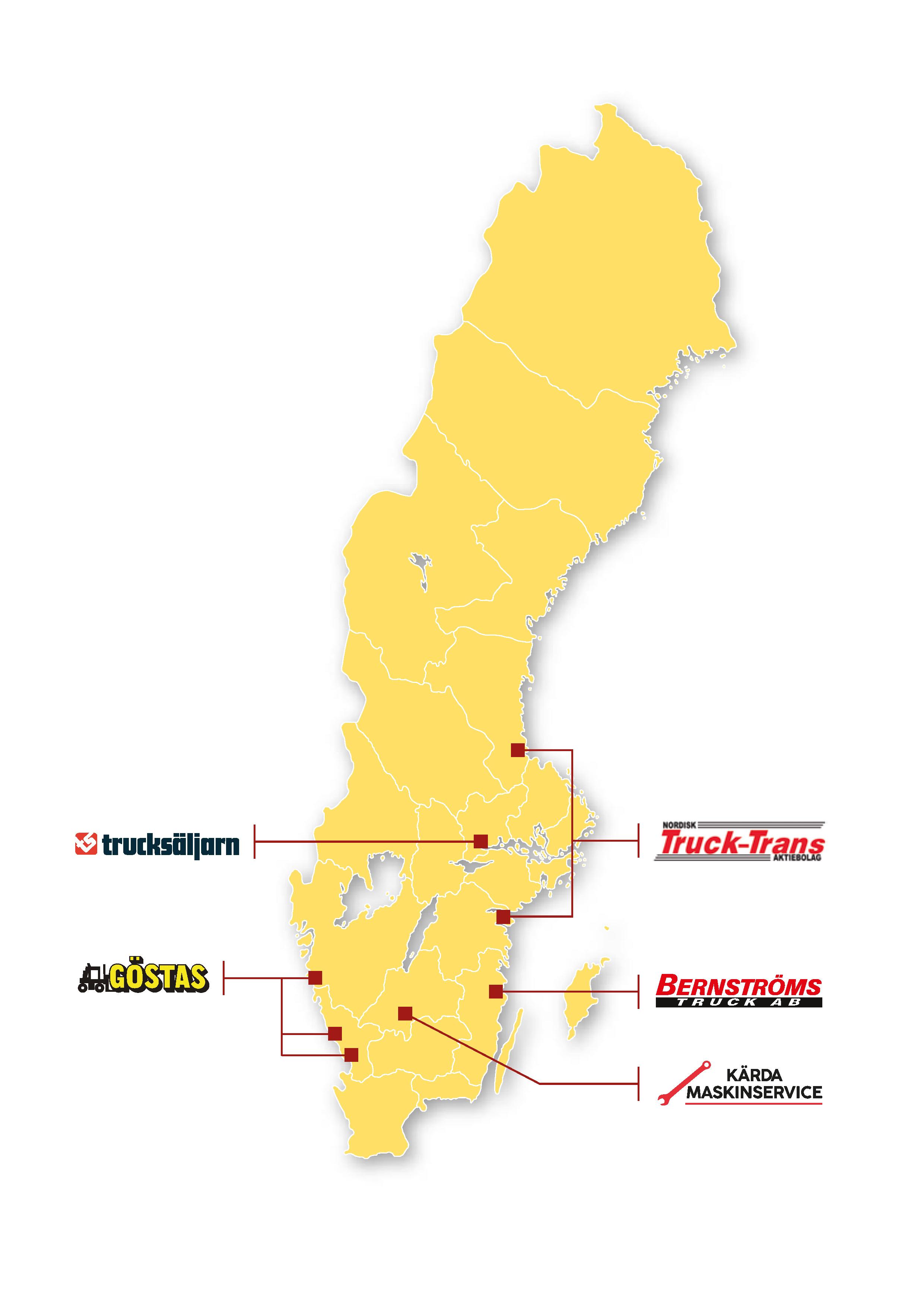 Hyster-Dealer Network Map Sweden v2