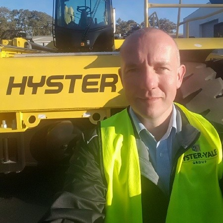 Matt Hardy, Industry Manager for Hyster Europe