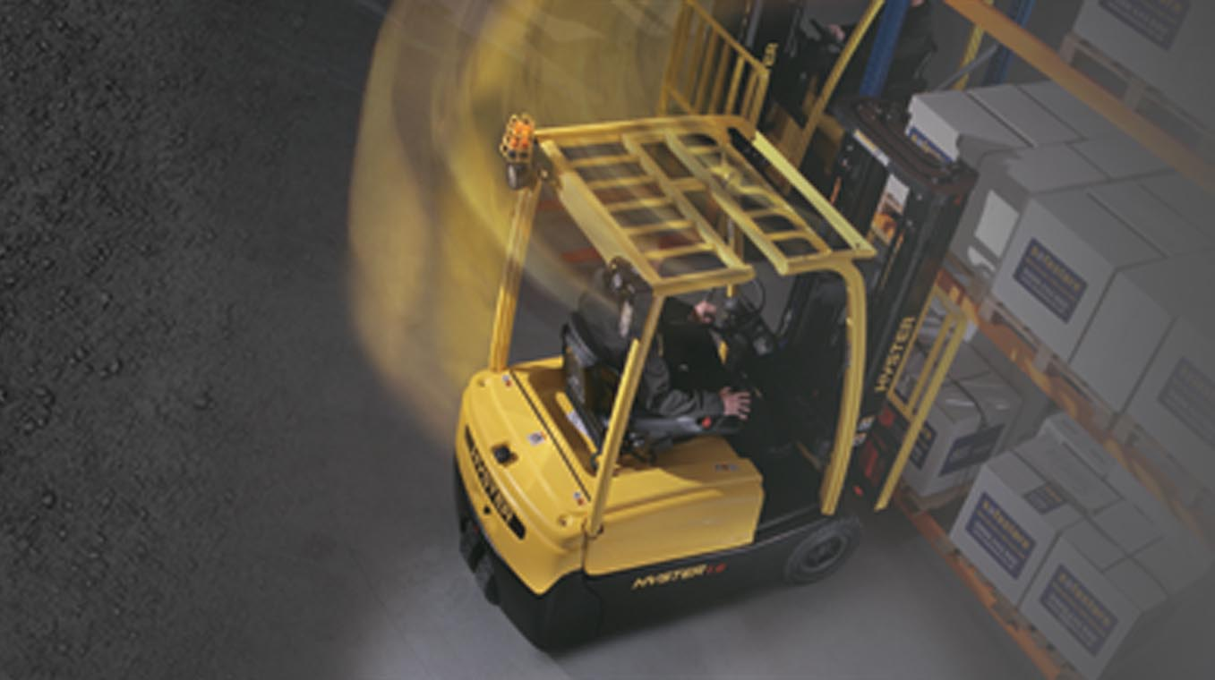 Hyster Truck in Motion