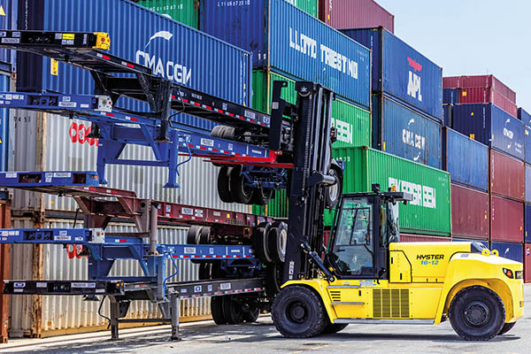 Hyster Brings A Change For The Better To Container Handling Operations
